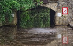 - (txmx 2) Tags: water reflection sign alster river hamburg