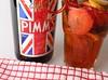 Pimms (jrharding444) Tags: pimms alcohol british summer fruit towel straw bottle glass strawberry cucumber lemon red white blue green yellow studio soft box lighting