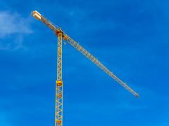 Industrial ballet (Adaptabilly) Tags: blue travel spain triangle valència crane industry structure ciudaddelasartesylasciencias sky cityofartandscience santiagocalatrava lumixgx7 clouds europe