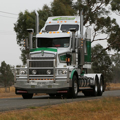 Cold & Wet Noses ~ KENWORTH (3/4) (Jungle Jack Movements (ferroequinologist)) Tags: four cold wet kenworth prime movers benalla winton crawling hume truck show festival vic victoria australia hp horsepower gear oil haul haulage freight cabover trucker drive transport carry delivery bulk lorry hgv wagon road highway nose semi trailer deliver cargo interstate articulated vehicle load freighter ship move roll motor engine power teamster tractor mover diesel injected driver cab cabin loud rumble beast hood fast brake wheel exhaust double grunt classic historic