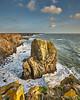 Standing Apart (Doug.King) Tags: cliffs landscape rock seastack pembrokeshire wales sea ocean sky
