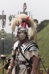Romans (Crisp-13) Tags: old sarum castle salisbury wiltshire english heritage clash romans roman soldier helmet armour plume