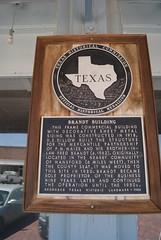 Brandt Building (ednurseathkh) Tags: texas texashistoricalmarker hansfordcounty brandtbuilding medallionplate texashistoriclandmark building spearman dedillow mercantile pmmaize fredbrandt