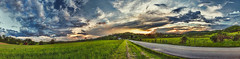 8R9A1599-06Ptzl1TBbLGERk (ultravivid imaging) Tags: ultravividimaging ultra vivid imaging ultravivid colorful canon5dm3 canon clouds fields farm rural road rainyday scenic sunset sunsetclouds stormclouds sky pennsylvania pa panoramic landscape vista painterly countryscene