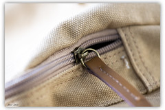 Zipper Macro (Bear Dale) Tags: macro one zippers camera bag ulladulla south coast new wales australia nikon d850 nikkor afs micro 105mm f28g ifed vr zipper dale lake conjola brown leather canvas beige brass beardale fotoworx lakeconjola shoalhaven southcoast framed photo photograph groups group flickr