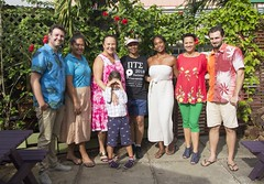 NASA Astronaut Dr Yvonne Cagle visits the Cook Islands