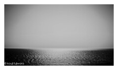 midday of the sea #2 (kouji fujiwara) Tags: sea seascape fineart fine art fujifilmxt2 fujifilm xt2 minimal minimalsm blackandwhite blackwhite monochrome noir reflection glitter midday