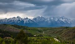 Rain clouds and Teton range (Arun Sundar) Tags: grandteton yellowstone wyoming nature landscape mountain rain clouds canon arun