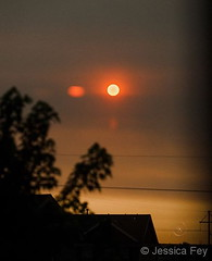 June 10, 2018 - Smoke from wildfires creates an other-worldly sunrise. (Jessica Fey)