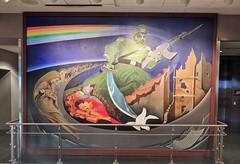 Order of Chaos Airport, Denver, Colorado (elnina999) Tags: denverinternationalairport colorado art mural orderofchaos leotanguma inspirations culture symbolism conspiracy weird publicart
