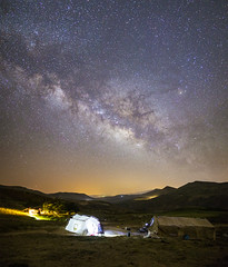 Three Qashqai Kashkuli nomadic tents under the starry sky (Alex Tudorica) Tags: qashqai kashkuli nomadic tribe iran persia iranian zagros mountains astrophotography canon 6d samyang 24mm 14 galaxy milky way night photography tent nomad fars province