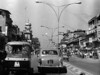 img285 (Höyry Tulivuori) Tags: india 1970 street life people cars monochrome men women child 70s vintage seventies temple city country индия улица чернобелое автомобиль дома народ быт