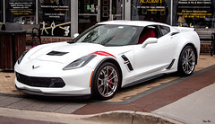 when you own a Corvette , you get to park anywhere you want (Stu Bo) Tags: canon certifiedcarcrazy coolcar canonwarrior dreamcar chevycorvette supercar sexonwheels cruisenight hangingoutwiththefamily horsepower sbimageworks white red