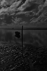 Boat Relex over the moon - B&W (Leo Teles) Tags: blackandwhite bw preto e branco pb blanco y negro fine art fineart wall decoration cotton print large relaxing relaxation boat beach island sea ocean clouds reflex chill peace peaceful