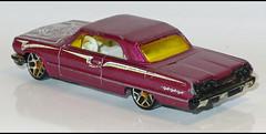63' Chevy Impala (3861) HW L1170214 (baffalie) Tags: auto voiture miniature diecast toys jeux jouet ancien vintage classic old car coche us custom muscle