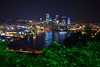 Pittsburgh At Night (jna.rose) Tags: pittsburgh pennsylvania night nightphotography longexposure lights buildings skyline sky river water reflection beautiful slowshutter blue green photography nikon d5300 bridge bridges