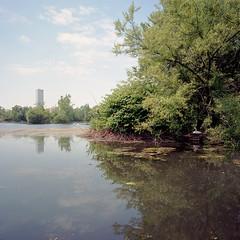 Jersey City Reservoir #3 (devb.) Tags: 6x6 mediumformat hasselbladswcm ektar jerseycity reservoir nj