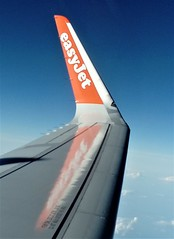 Airbus A320 Port Wing Sharklet (Grumman G1159) Tags: airbus a320 airbusindustries sharklet wingtip fence easyjeteurope easyjet logo badge crest insignia