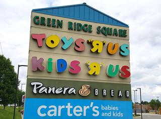 Green Ridge Square sign; Grand Rapids, MI