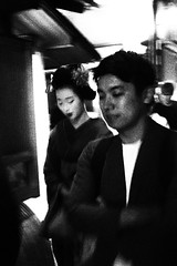 IMG_3201 (jumppoint5) Tags: kyoto japan blackandwhite light shadow contrast urban maiko together street city
