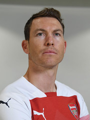 Arsenal Unveil New Signing Stephan Lichtsteiner (Stuart MacFarlane) Tags: sport soccer clubsoccer stalbans england unitedkingdom gbr