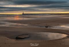 Roker Rock Pool (robinta) Tags: roker sunderland england ngc lighthouse pier beach sea seaandsand ocean seascape landscape sand rock dawn sunrise sky clouds pentax ks1 sigma sigma1770 coast