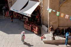 Entrance to the Grand Bazaar (b.jaroenwong) Tags: streetphotography iran isfahan esfahan street people market bazaar