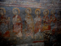 """""""Saints"""" - fresco (after 1173) of the oratory of Saint Thomas Becket - Cathedral of Anagni / Frosinone (Carlo Raso) Tags: saints fresco oratory saintthomasbecket cathedral anagni frosinone"""