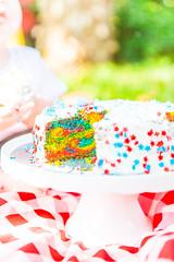 smash cake-38 (lermaniac) Tags: red smashcake cake brthday party birthday outdoors garden yard family kids children boy baby couple familyphoto