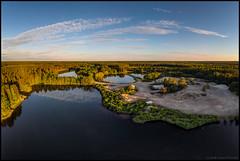Sandåsen (Jonas Thomén) Tags: sandåsen flygfoto aerial lakes lake sjö sjöar sand skog forest woods sunshine solsken kväll evening clouds moln dji mavic air drone drönare