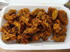Vegetarian Pakoras (knightbefore_99) Tags: lunch work food vancouver tasty best great vegetarian pakoras bombay bistro takeout takeaway delicious india indian awesome art deep fried