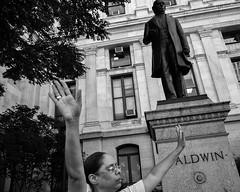 City Hall, 2017 (Alan Barr) Tags: philadelphia 2017 cityhall prayer religion religious street sp streetphotography streetphoto blackandwhite bw blackwhite mono monochrome candid city people panasonic lumix gx7