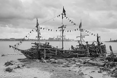 New Brighton -14.jpg (Colin Dorey) Tags: blackpearl childrenspirateship liverpool horizon wirral merseyside mersey water estuary newbrighton june 2018 summer bw monochrome blackandwhite blackwhite liverpoolbay wallasey