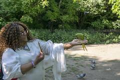 DSC_2195 (photographer695) Tags: wintrade rest recreation hyde park london feeding parakeet birds with nicole ross