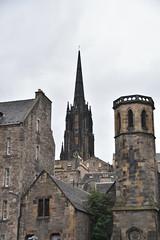Old Town Spires (PLawston) Tags: uk britain scotland edinburgh old town spire tower