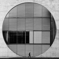 I'm walking (Leipzig_trifft_Wien) Tags: berlin deutschland de street architecture circle round pattern square geometry modern city urban human structure texture