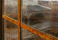 Flood Reflections (Terry Pellmar) Tags: texture digitalart ellicottcity 2018flood mainstreet window
