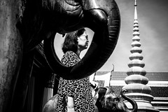 Bangkok (tomabenz) Tags: sony a7rm2 framing asia bnw streetshot bw urban monochrome street photography elephant people noiretblanc urbanexplorer zeiss streetview black white noir et blanc temple human geometry blackandwhite humaningeometry sonya7rm2 streetphotography