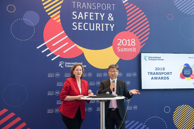 Mary Crass and Young Tae Kim open the ITF Transport Awards Ceremony