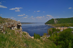 Horseshoe on Volga by the Zhiguli shore (МирославСтаменов) Tags: russia zhiguli zhigulevsk morkvashi valley mountain hill slope overlook volga greenery river ripple rocks