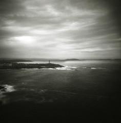 Atlantic Gloom (O9k) Tags: analog analogue 120 film selfdeveloped homedeveloping blackandwhitebw galicia corunna coruña lighthouse seascape landscape lofi