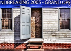 IF YOU'RE EVER IN THE NEIGHBORHOOD PLEASE STOP IN . . . (NC Cigany) Tags: color wall windows brickwall steps stairs va virginia richmond bricks door funny