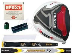 Heater Blue Angels Titanium Driver Component Kit (monarkgolfclub) Tags: extreme x5 chipper head rh