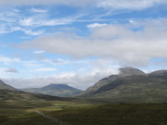 Northern Scotland (Ian Robin Jackson) Tags: scotland mountains zeiss sony nature rossshire fence clouds sky