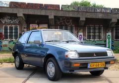 Mitsubishi Colt 1200 GL Automatic (Skylark92) Tags: nederland netherlands holland noordholland amsterdam noord north ndsm werf yard youngtimer event 2018 car road tree sky people mitsubishi colt 1200 gl automatic 1983 kh68sn