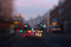 travels through the city... (CatMacBride) Tags: night city dublin lights lensbaby blur fujifilm xt2 canonadapter doubleexposure