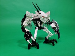 Bug dude (TuragaNuva) Tags: bionicle black white bug insect wings lego moc