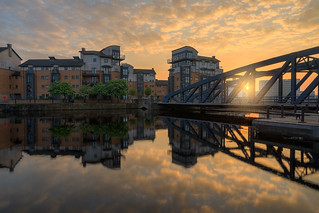 Golden glow over the Victoria Swing Bridge (Explored! Thanks for all Likes & Comments)