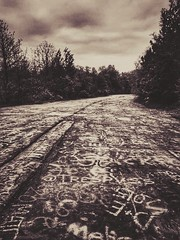 graffiti highway....(HSS) (BillsExplorations) Tags: sliderssunday slide highway abandonedhighway abandoned graffiti graffitihighway road centralia pennsylvania fire minefire coalfire coal forgotten silenthill hss historic disaster creepy sepia