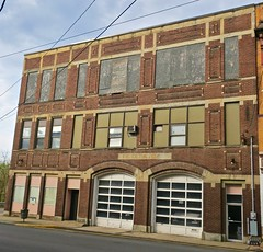 Fire Department, Fairmont, WV (Robby Virus) Tags: fairmont westvirginia wv old fire department commercial building station firehouse abandoned vacant architecture block